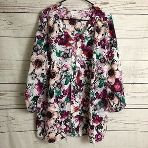 Jaclyn Smith Floral Print Blouse